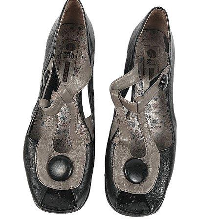 Sapato Selo de controle  preto 35