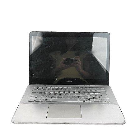 Notebook Sony Vaio i7 8 GB Win 10 HD 500 GB Tela trincada