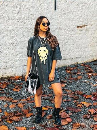 Camiseta Smile Estonada  Estampa Neon