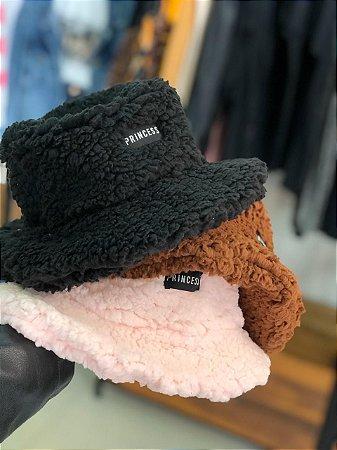 Bucket Hat Teddy Preto Princess