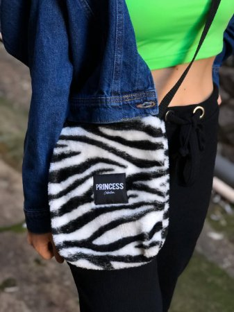 Bolsa Shoulder Bag Zebra Princess