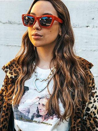 Óculos Vintage Vermelho Princess
