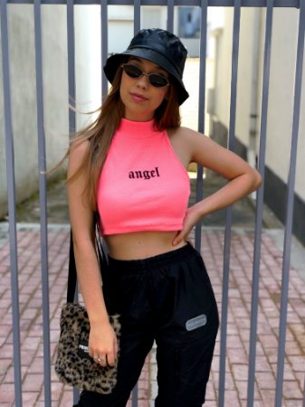 Regata Cropped Cavada Angel Rosa Princess