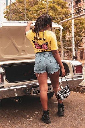Camiseta Butterfly Amarela Princess