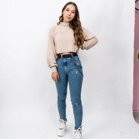 Calça Jeans Skinny Hot Pants Bereta Princess