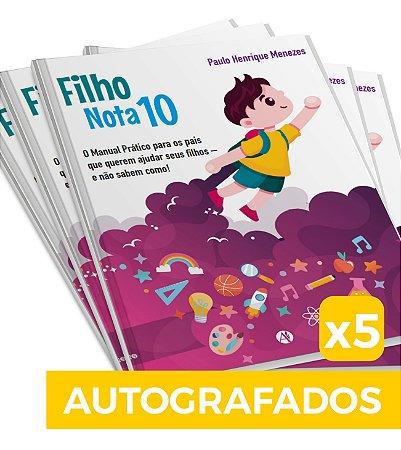 5 Livros Filho Nota 10 - Autografados