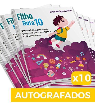 10 Livros Filho Nota 10 - Autografados