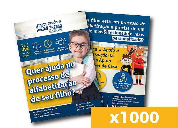Panfleto de divulgação - Apoio à Alfabetização (x1000)