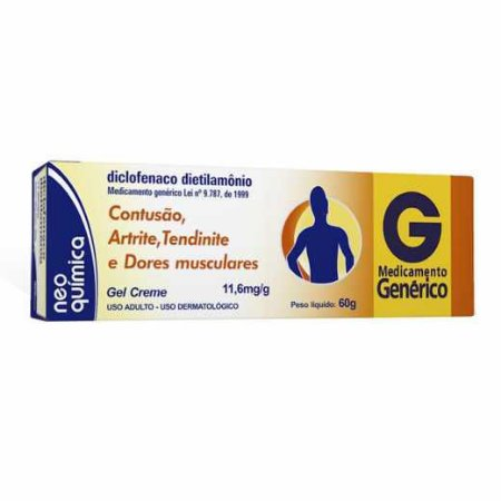 DICLOFENACO DIETILAMÔNIO GEL 60G
