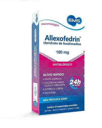 ALLEXOFEDRIN 180 mg c/10 comp EMS