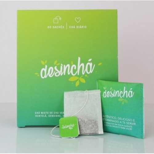 Chá Desinchá - Caixa 60 Sachês - Chá Emagrecer - Termogênico