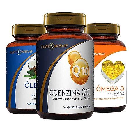 Kit Promocional Óleo de Coco, Ômega 3 e Coenzima Q10 Nutriwave