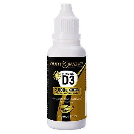 Vitamina D3 sublingual | 2.000 UI por gota | Nutriwave
