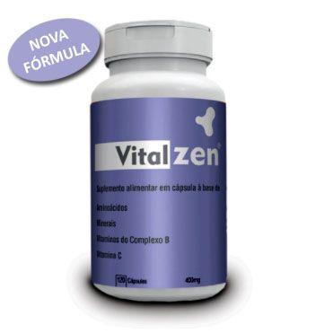 VITALZEN - Triptofano + Glutamina + Magnésio + B3 B6 B12