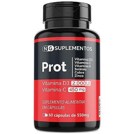 PROT - Vitaminas D3, C, A, Selênio, Cobre e Zinco - Sistema Imunológico
