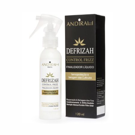 Leave in Líquido com Protetor Termico - Anti Frizz - Spray Leave in - Desfrizah 120 mL - Andirah Brasil