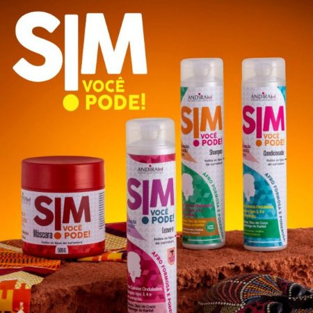 Kit de Cabelo Cacheado e Crespo - Low Poo - Hidratação Capilar - Sim Você Pode - Andirah Brasil