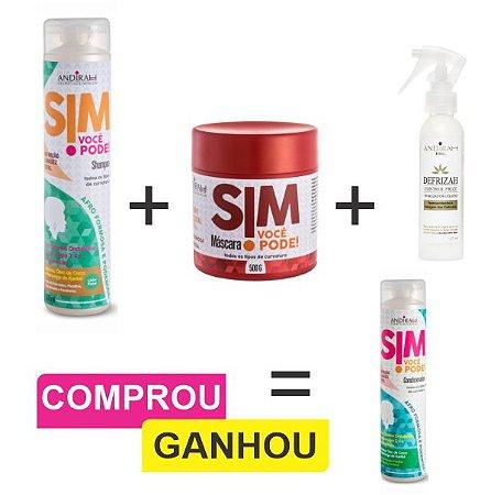 Combo Cabelo Afro +  Proteção Termica + Condicionador Cabelo Afro de brinde