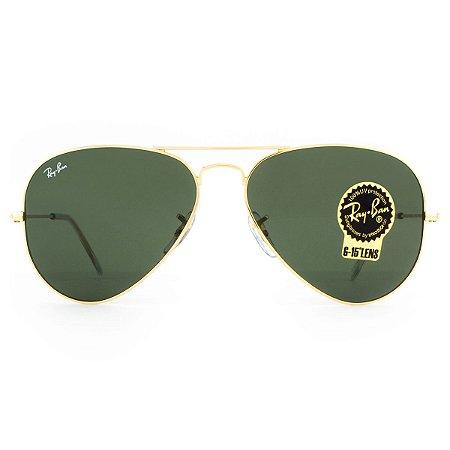 Óculos de Sol Ray Ban Aviator Classic RB3025L L0205-58 - Dourado e Preto