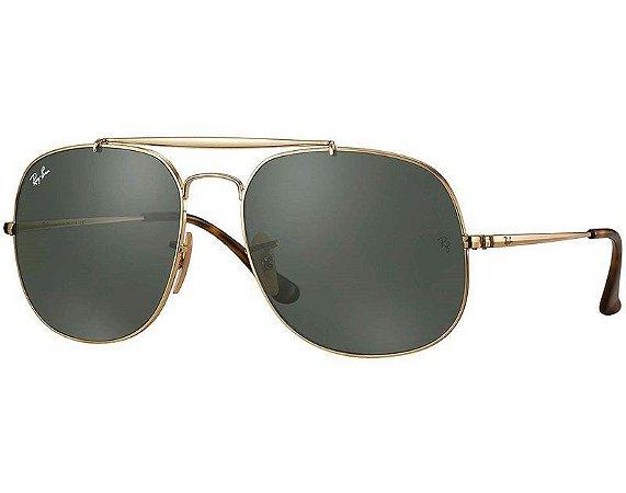 Ray-Ban General RB3561 001 57 - Dourado/Verde Clássico G-15