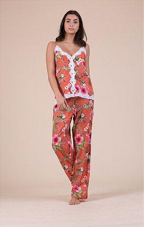 Pijama Alcinha Laranja