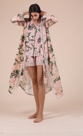 Robe de viscose estampa floral