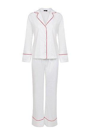 Pijama liso 100% algodão.