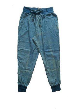 Calça Jogging Jeans Lavado Plus Size