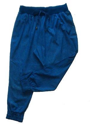 Calça Jogging Plus Size Jeans Leve