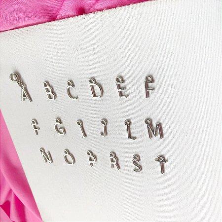 Pingente berloque letras
