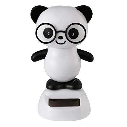 Panda que dança com luz solar