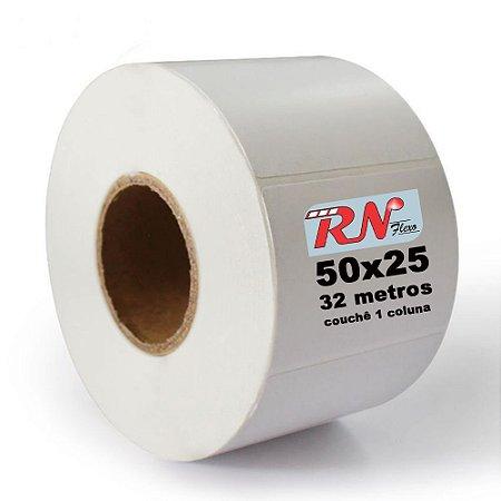 Etiquetas para Laboratório 50x25 mm Couchê 1 Coluna 32 Metros