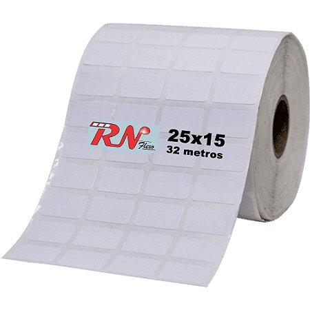 Etiqueta Térmica Adesiva 25x15 mm - 4 Colunas 32 Metros