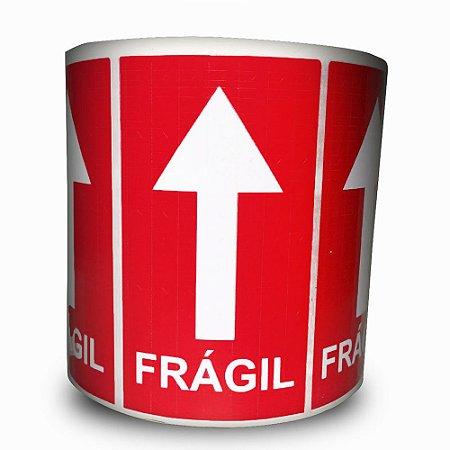 Etiquetas Adesivas Selo Frágil Seta - 1000 Etiquetas - 2 rolos