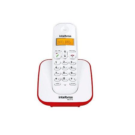 Telefone sem Fio Digital TS 3110 Branco e Vermelho 4123101 - Intelbras