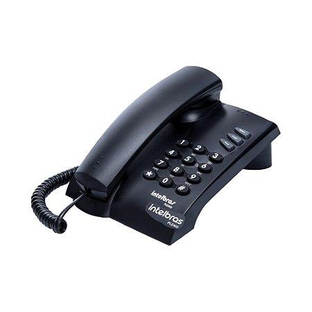Telefone Pleno com Fio sem Chave de Bloqueio Preto 4080051 - Intelbras