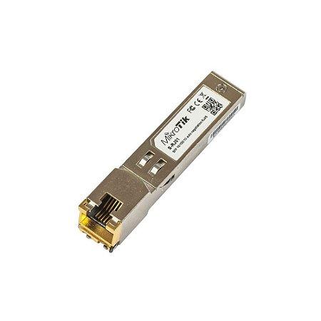 Microtik Módulo de Cobre para Porta Gigabit S-RJ01 RJ45 SFP 10 / 100 / 1000M Copper Codule