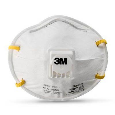 Respirador Descartável Concha 8812 PFF1 com Válvula 3M