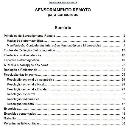 Princípios do Sensoriamento Remoto