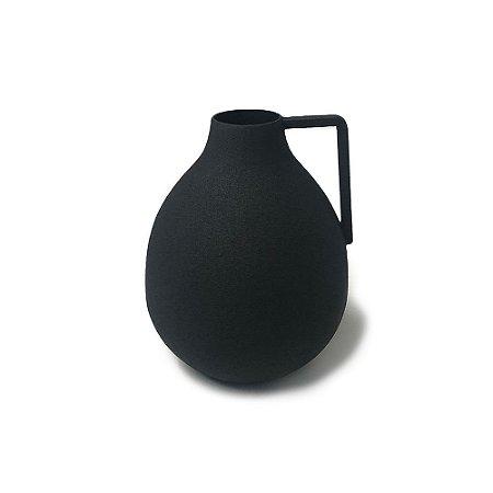 Vaso Fricotinho Preto em Alumínio