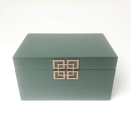 Caixa Decorativa Verde Escura