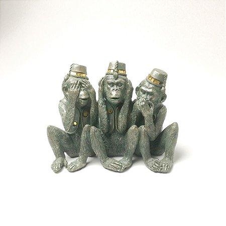 Escultura Três Macacos Sábios