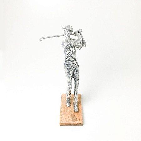 Golfista em Alumínio