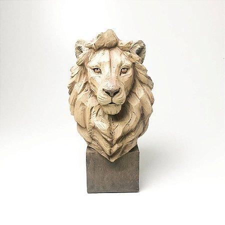 Escultura Leão em Resina