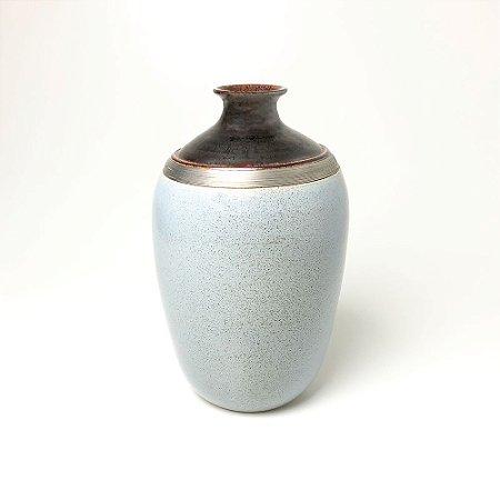 Vaso Azul em Porcelana - Magno Barrozo