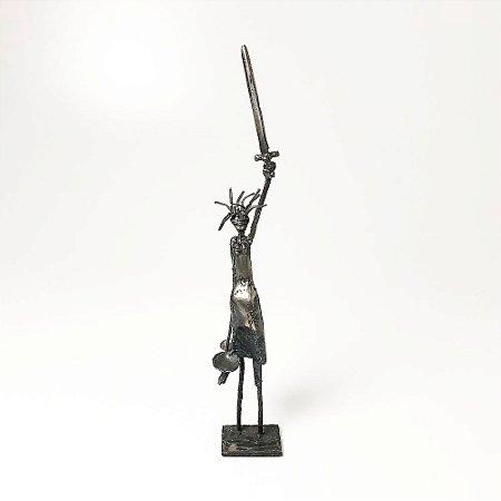 Escultura Justiça Espada em Ferro - Pedro Miranda