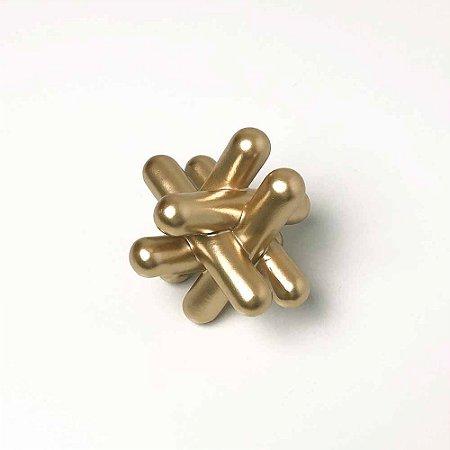 Escultura Barras Geométricas Dourada Pequena