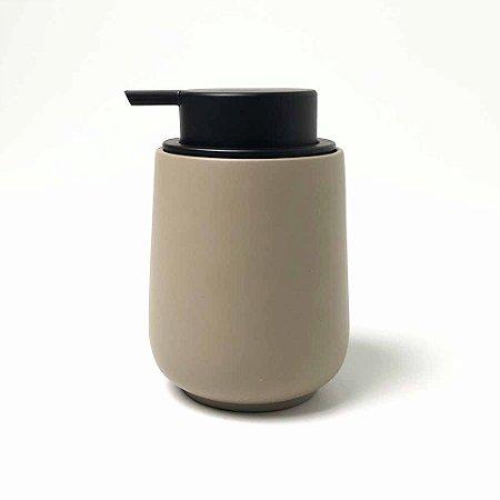 Porta Sabonete Líquido em Cimento - Bege-Escuro