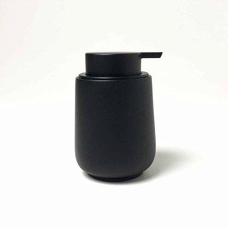 Porta-Sabonete Líquido Preto Fosco em Cimento