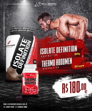 COMBO: Isolate Definition 900g + Thermo Abdomen 120cps